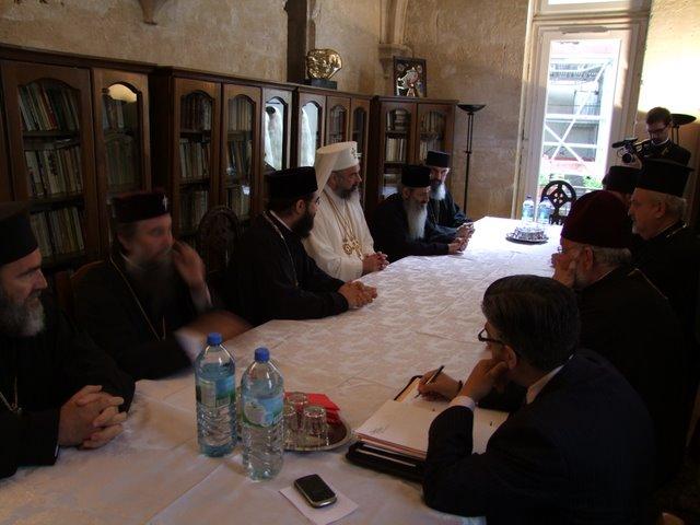 2009 07 10 Rencontre du Patriarche Daniel de Roumanie avec les évêques membres de l'Assemblée des évêques orthodoxes en France