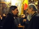 Mgr Marc Alric (droite) et Père Radu Totelecan (gauche)