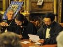 De droite à gauche: André Lossky, Mgr Joseph, Père Noël Tanazacq