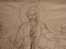 """Fresca """"Hristos în mijlocul copiilor"""" / La fresque"""" Le Christ au milieu des enfants"""""""
