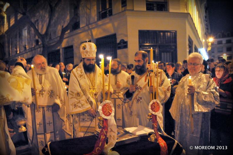 La nuit de Pâques 2013 à la Cathédrale de Paris - Noaptea de Pasti 2013 la Catedrala din Paris