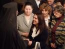 Mulţumirea credincioşilor - în prim plan, dna Irina Luciu, preşedinta asociaţiei femeilor ortodoxe din parohie